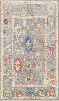 All-Over Floral Oushak Oriental Area Rug 4x6