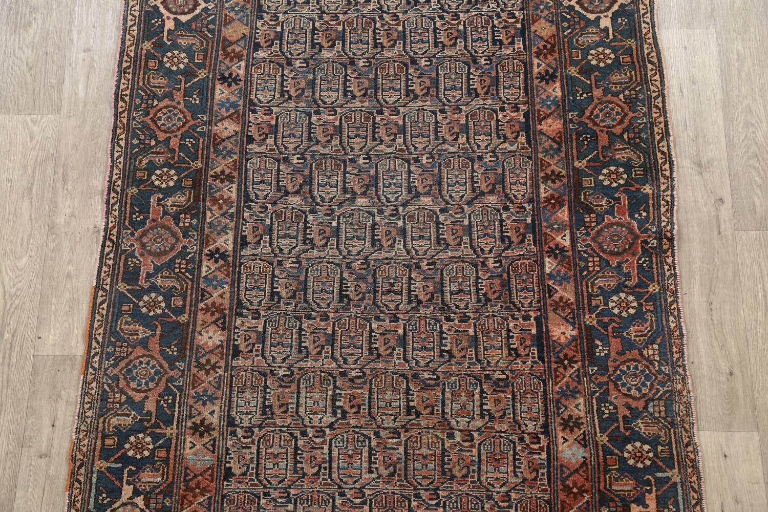 Pre-1900 Antique Tribal Malayer Persian Area Rug 4x6 image 3