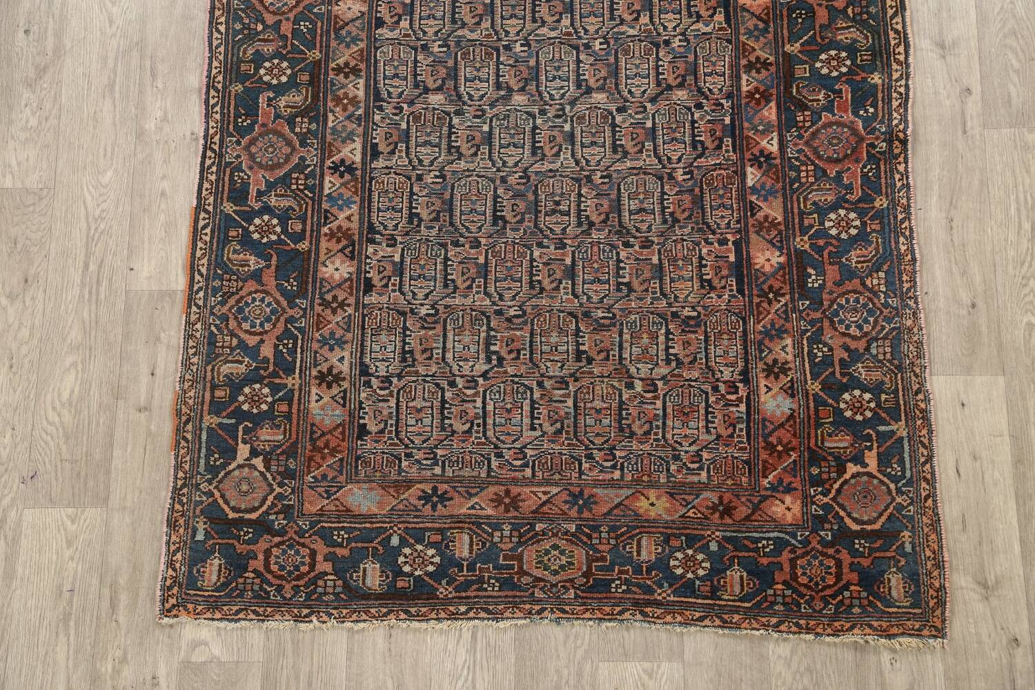Pre-1900 Antique Tribal Malayer Persian Area Rug 4x6 image 8