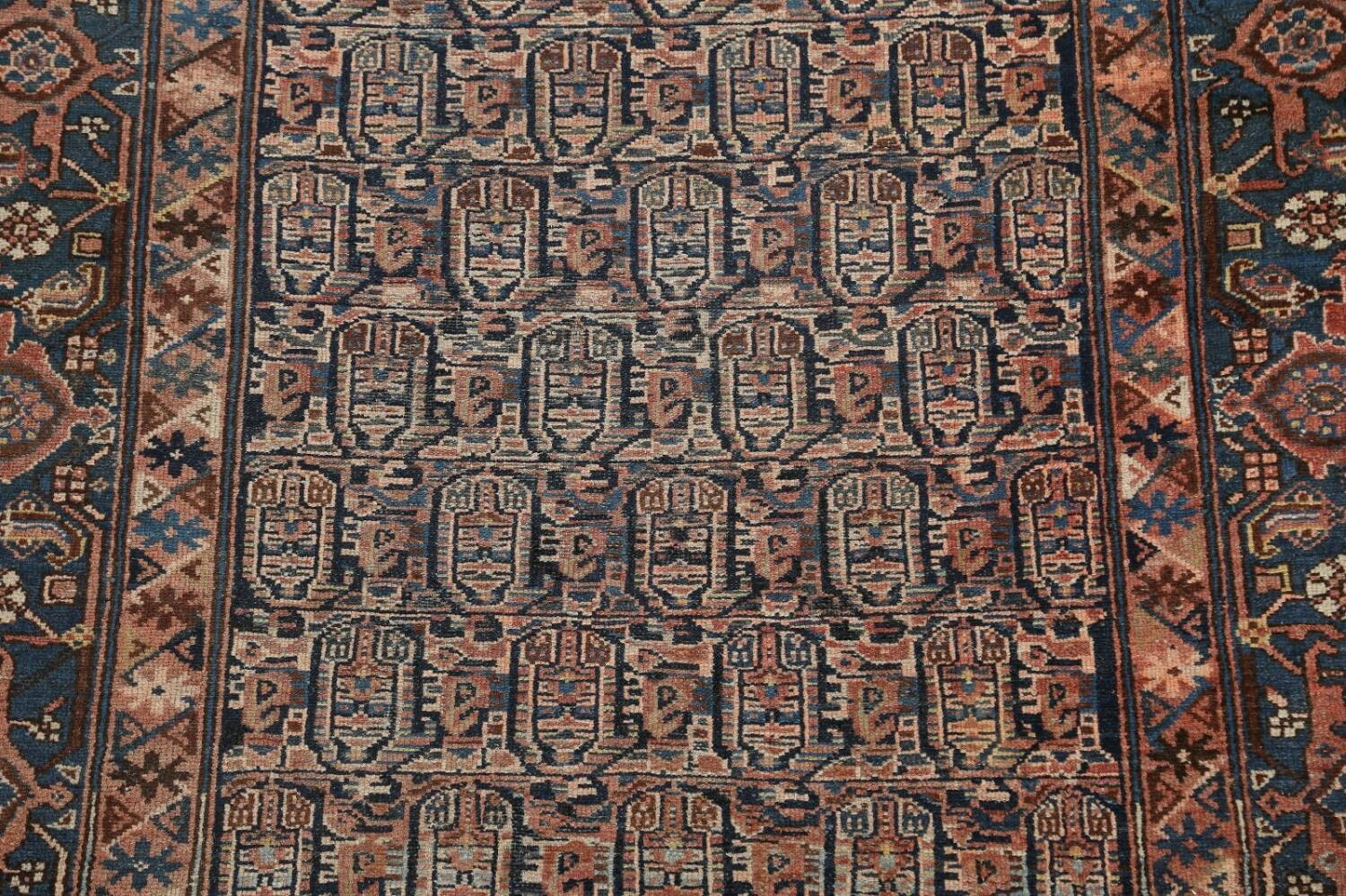 Pre-1900 Antique Tribal Malayer Persian Area Rug 4x6 image 4
