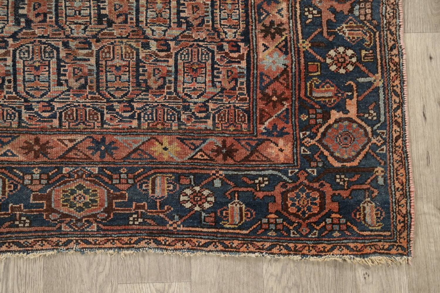 Pre-1900 Antique Tribal Malayer Persian Area Rug 4x6 image 5