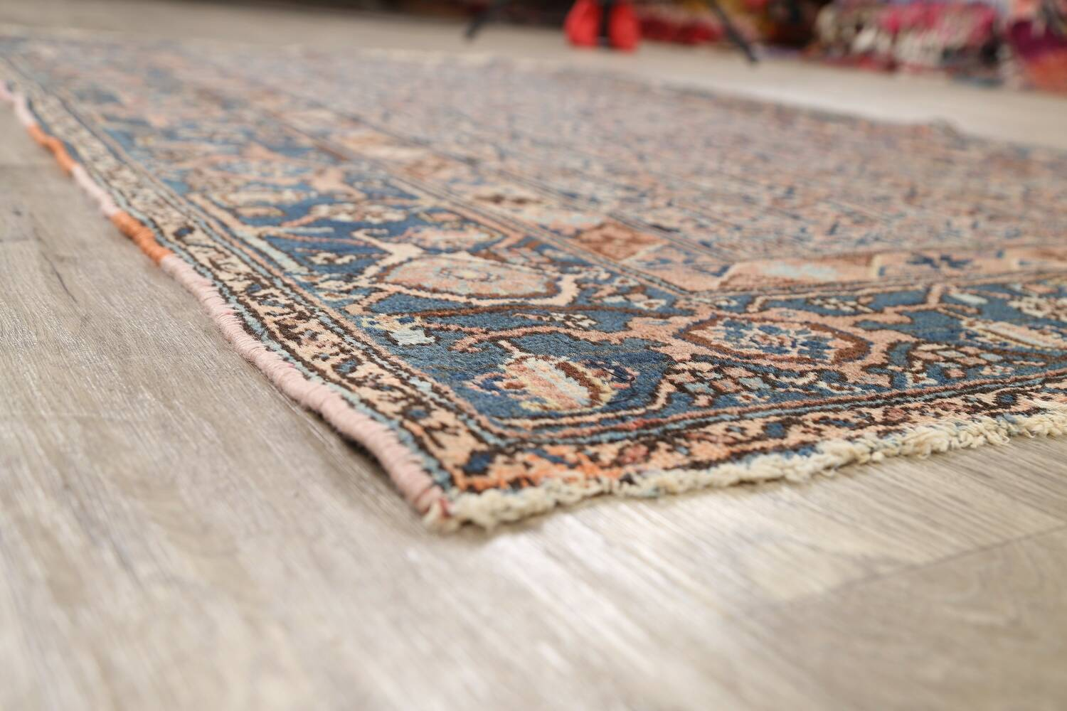Pre-1900 Antique Tribal Malayer Persian Area Rug 4x6 image 6
