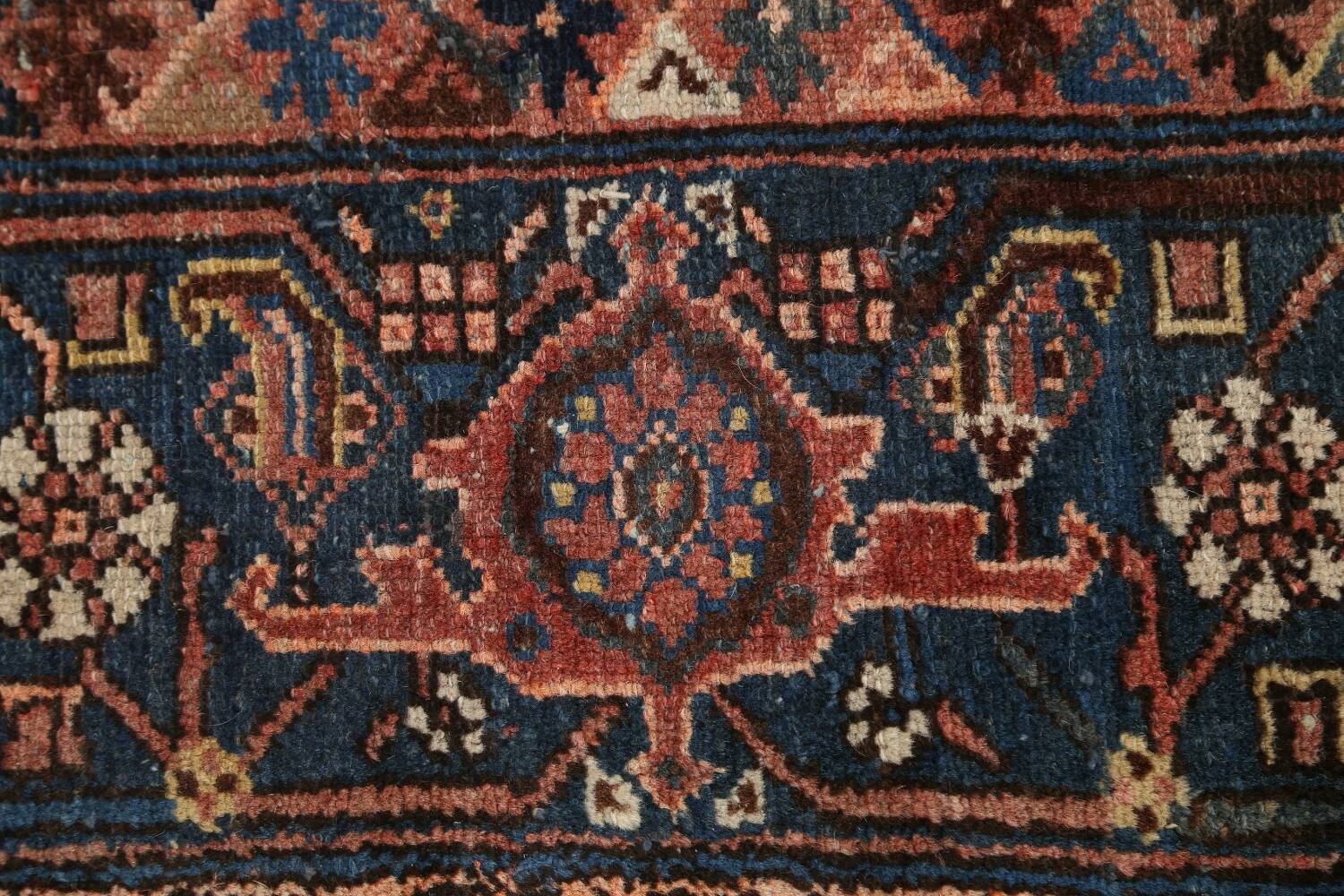 Pre-1900 Antique Tribal Malayer Persian Area Rug 4x6 image 9