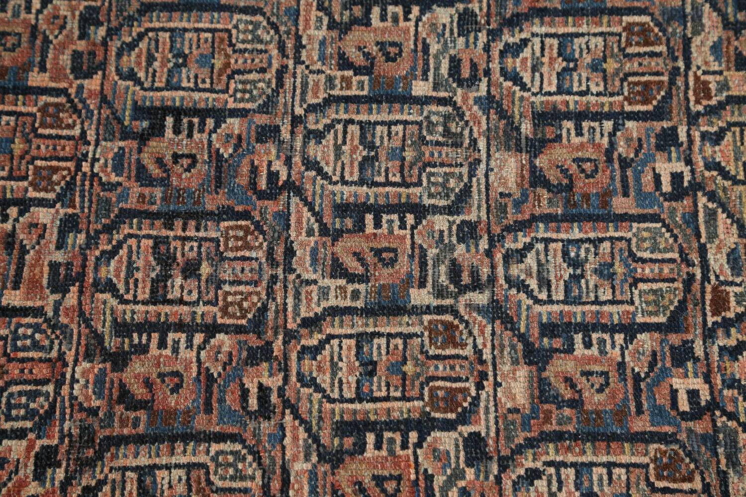 Pre-1900 Antique Tribal Malayer Persian Area Rug 4x6 image 10