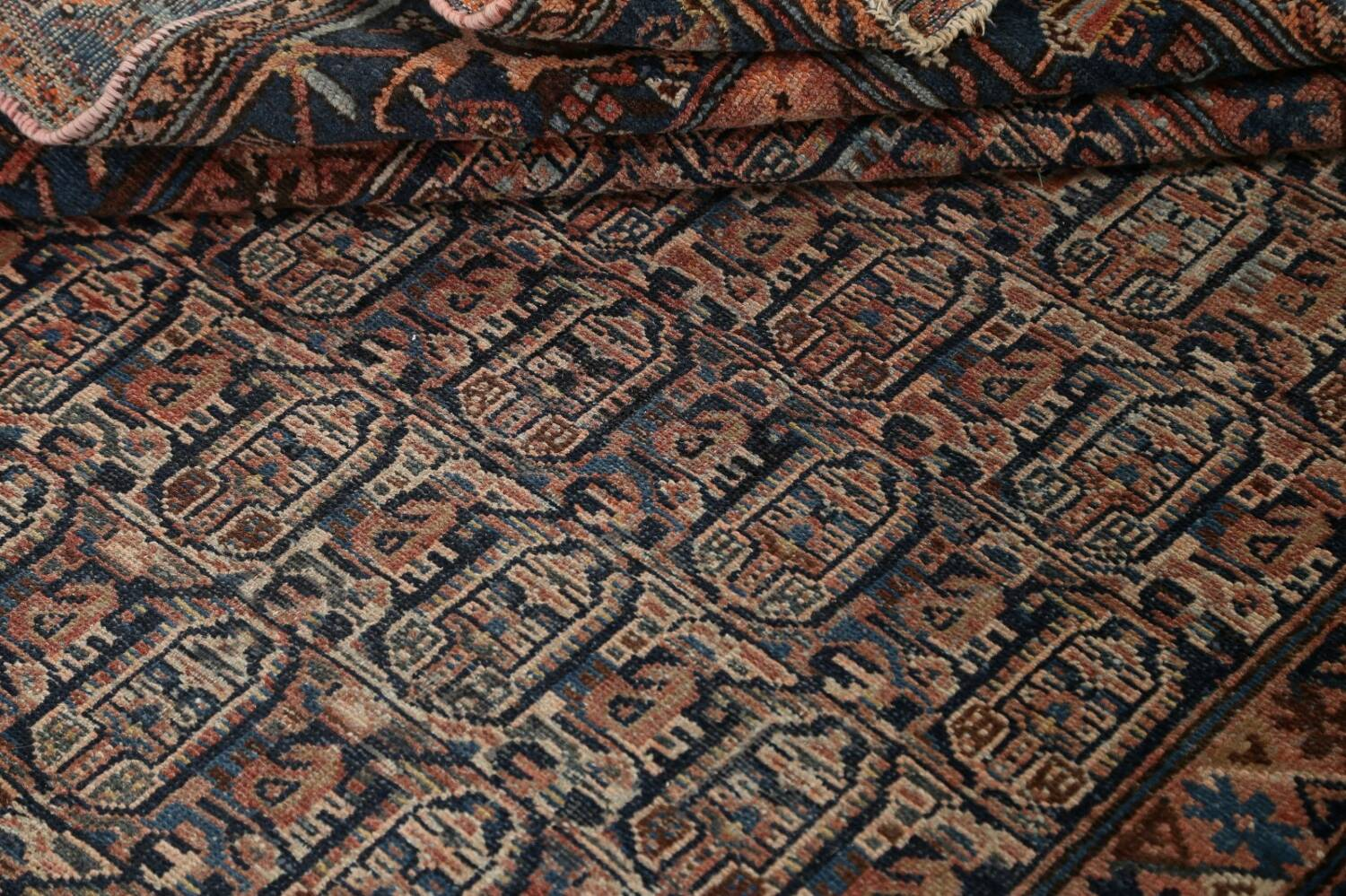 Pre-1900 Antique Tribal Malayer Persian Area Rug 4x6 image 14