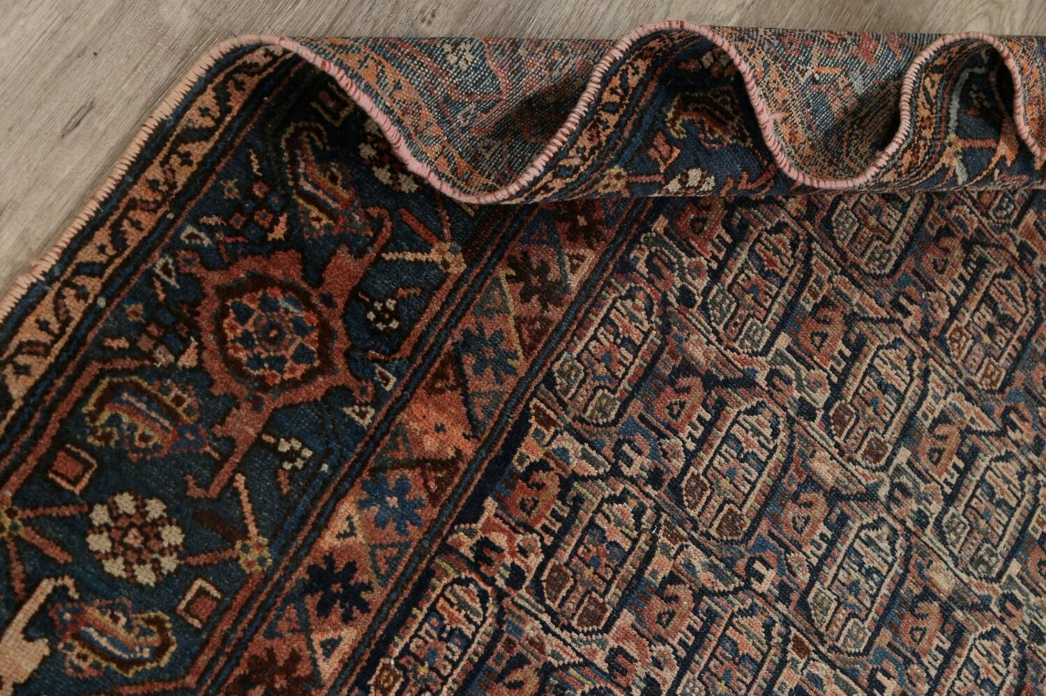 Pre-1900 Antique Tribal Malayer Persian Area Rug 4x6 image 15