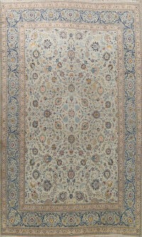 All-Over Floral Kashan Persian Area Rug 11x14