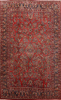 All-Over Floral Sarouk Persian Area Rug 10x14
