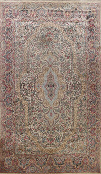Antique Floral Large Kerman Persian Area Rug 12x16
