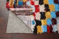 All-Over Checkered Moroccan Oriental Runner Rug 2x9 image 7