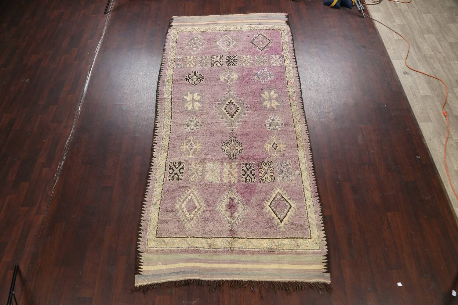 Antique South-western Moroccan Oriental Runner Rug 5x12 image 2