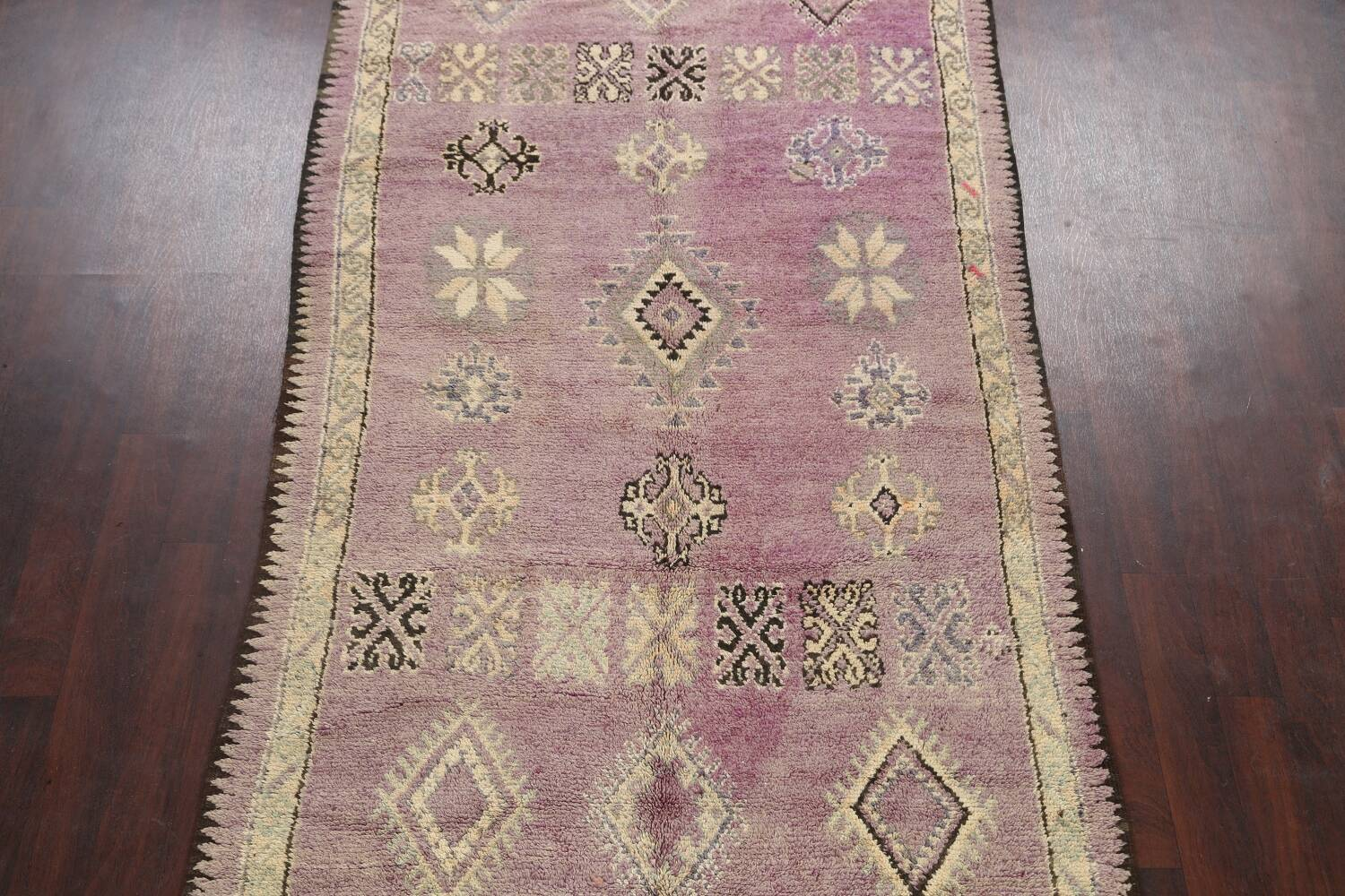 Antique South-western Moroccan Oriental Runner Rug 5x12 image 3
