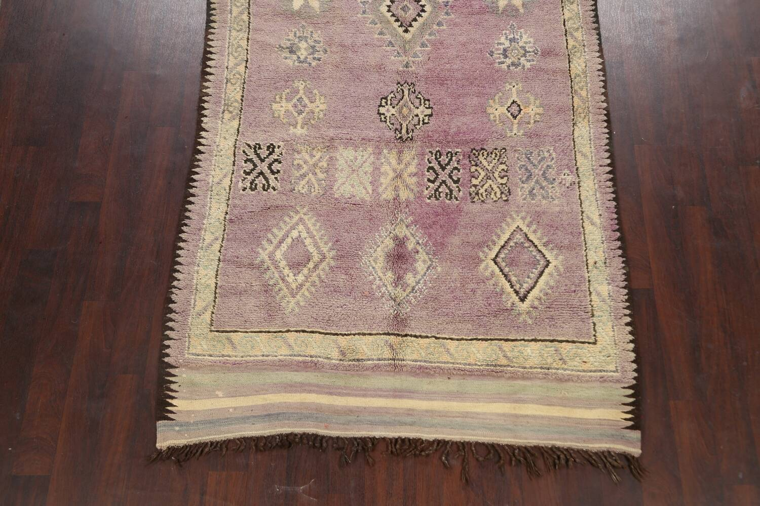 Antique South-western Moroccan Oriental Runner Rug 5x12 image 8