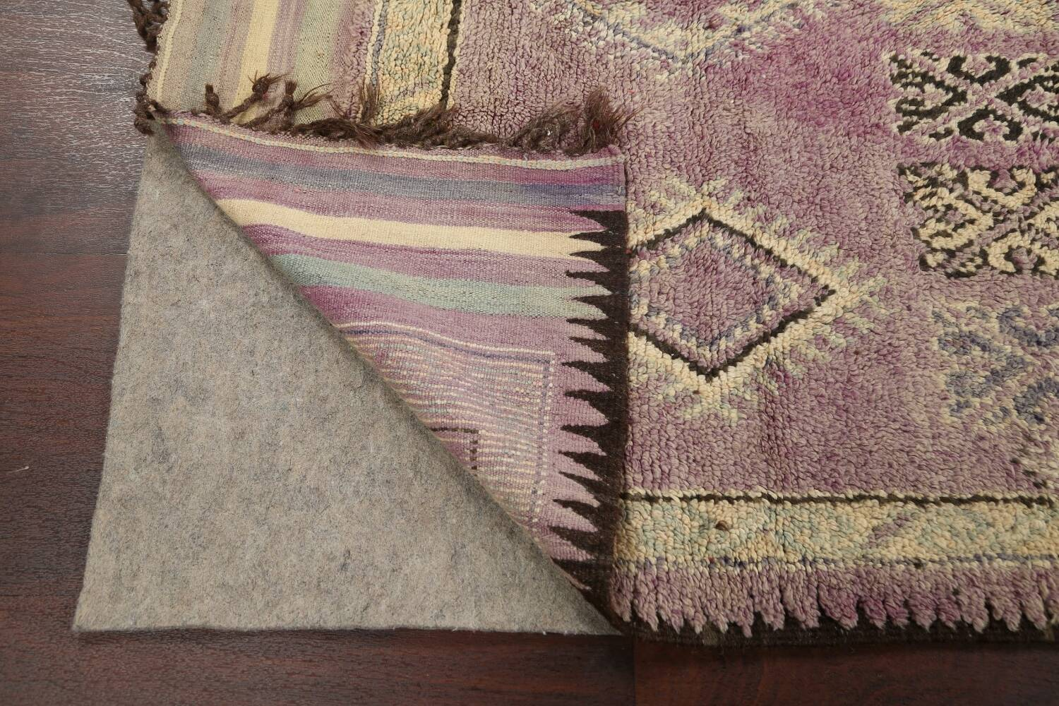 Antique South-western Moroccan Oriental Runner Rug 5x12 image 7