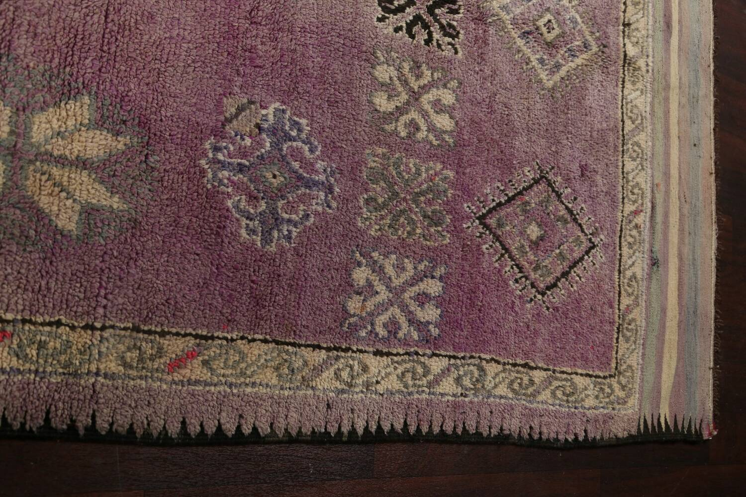 Antique South-western Moroccan Oriental Runner Rug 5x12 image 11