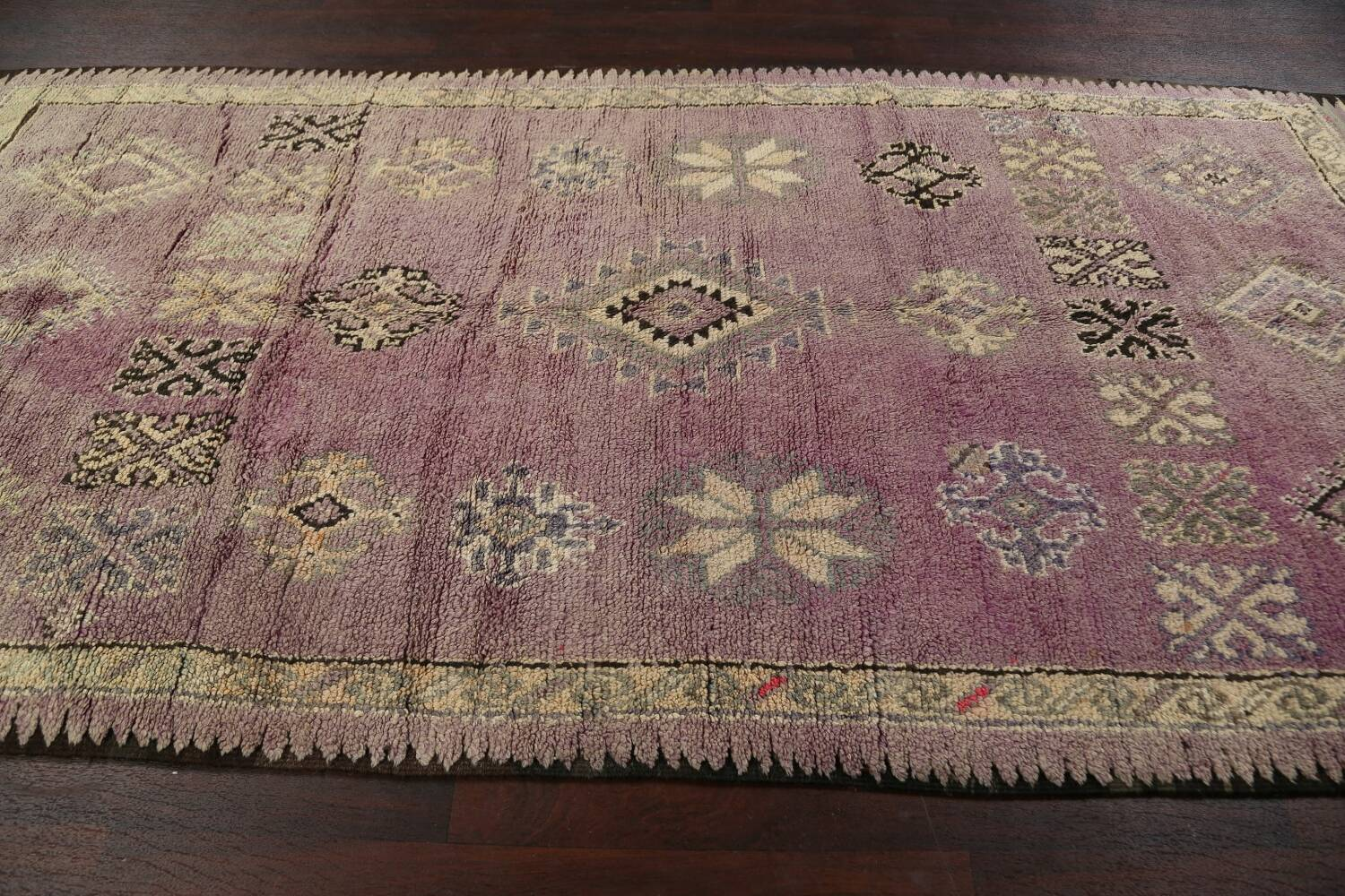 Antique South-western Moroccan Oriental Runner Rug 5x12 image 12