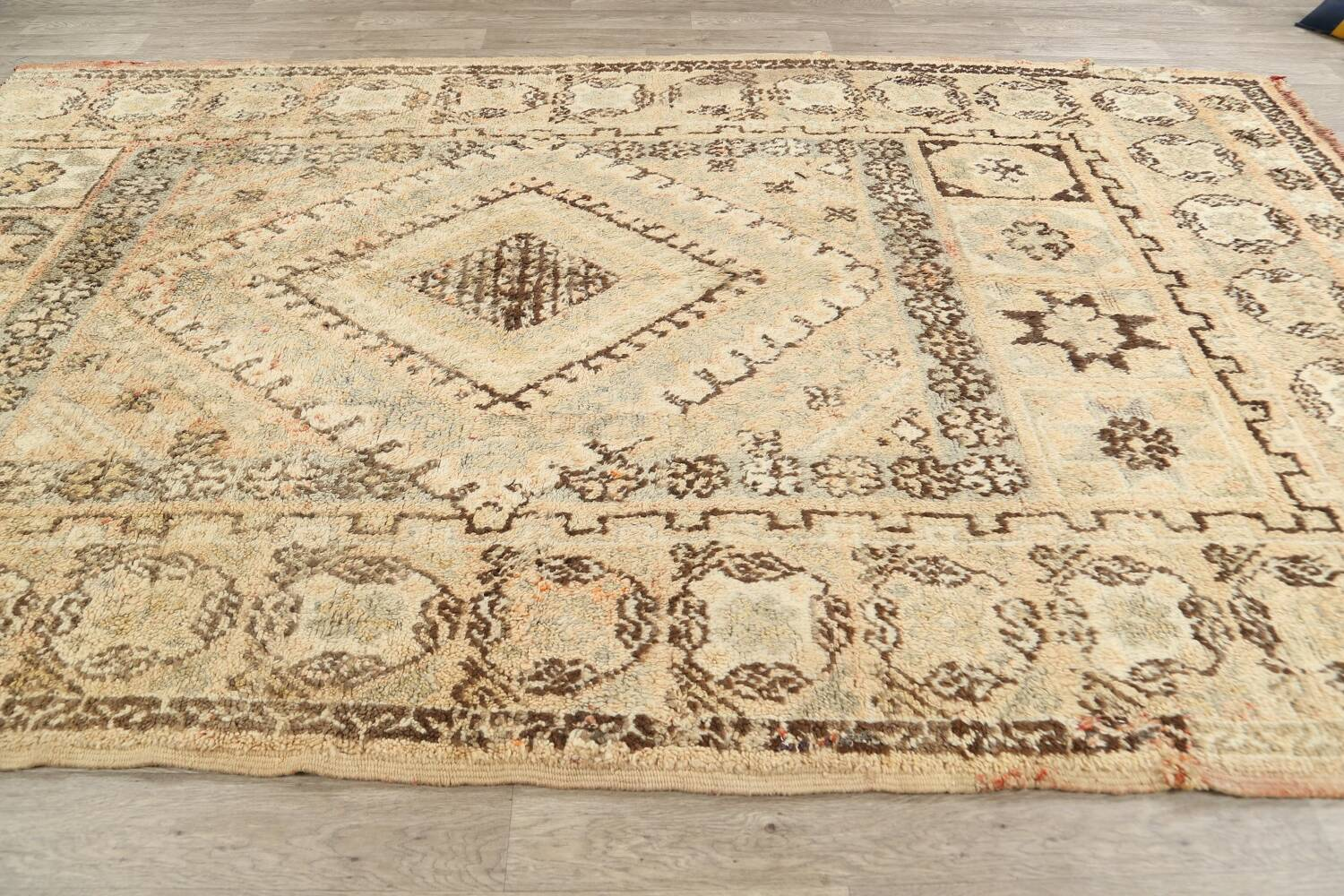 Antique Tribal Moroccan Oriental Area Rug 7x11 image 12
