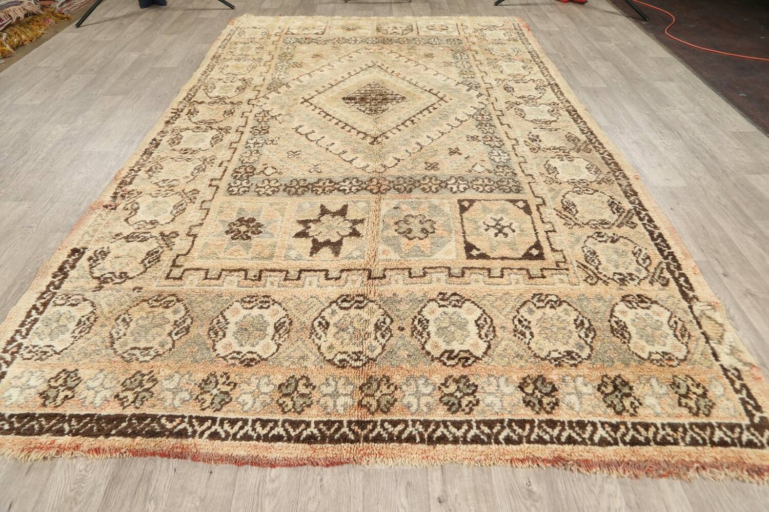 Antique Tribal Moroccan Oriental Area Rug 7x11 image 13