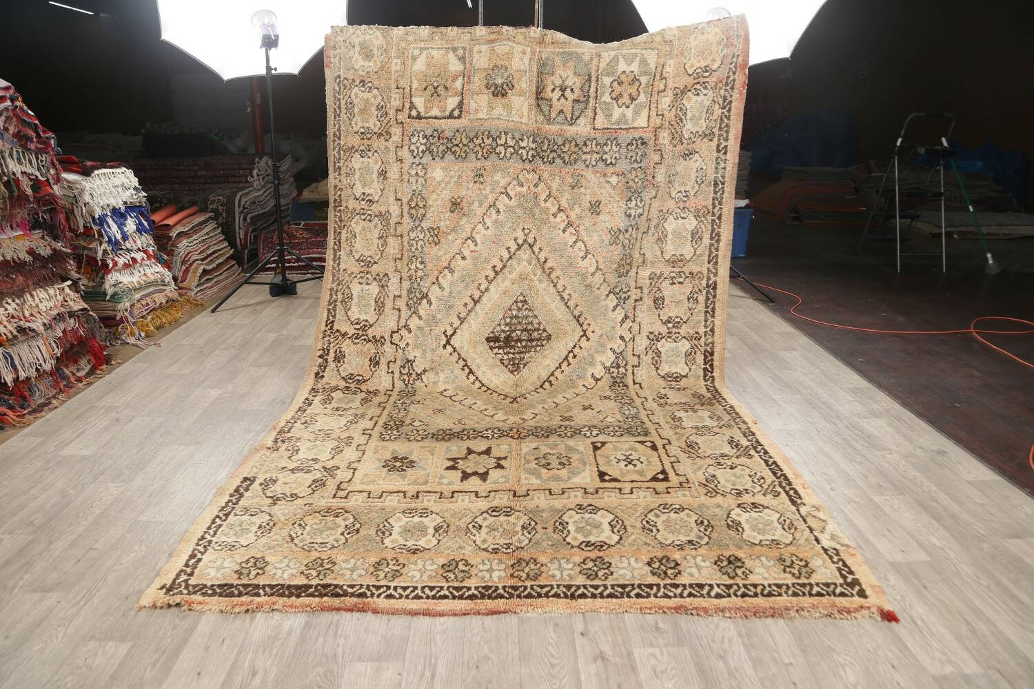 Antique Tribal Moroccan Oriental Area Rug 7x11 image 14