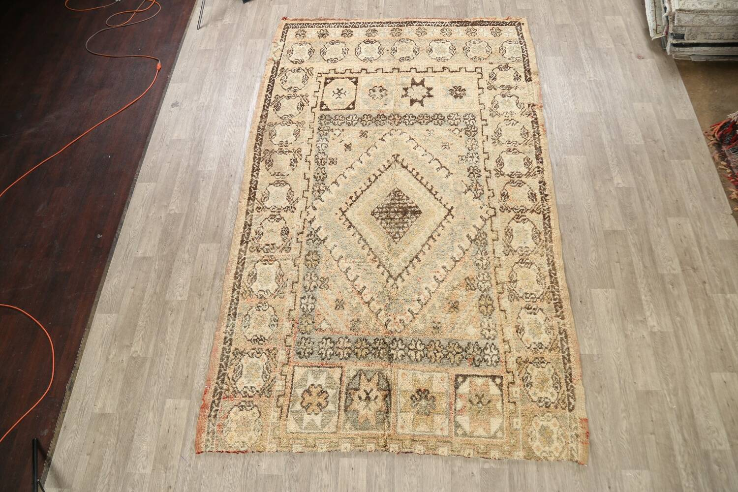 Antique Tribal Moroccan Oriental Area Rug 7x11 image 2