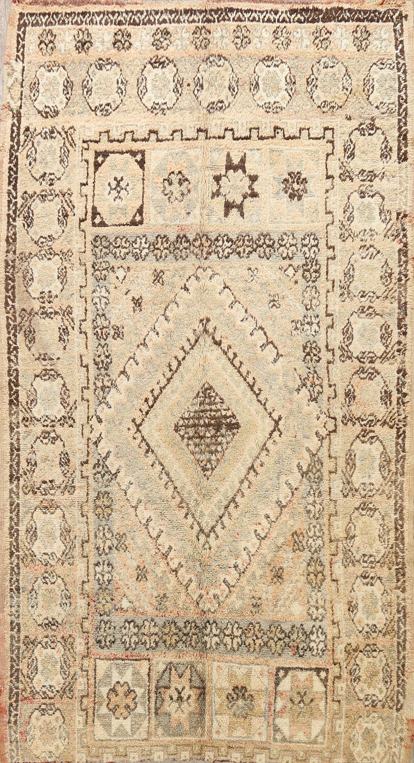 Antique Tribal Moroccan Oriental Area Rug 7x11 image 1