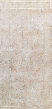 Muted Distressed Tabriz Persian Area Rug 6x11