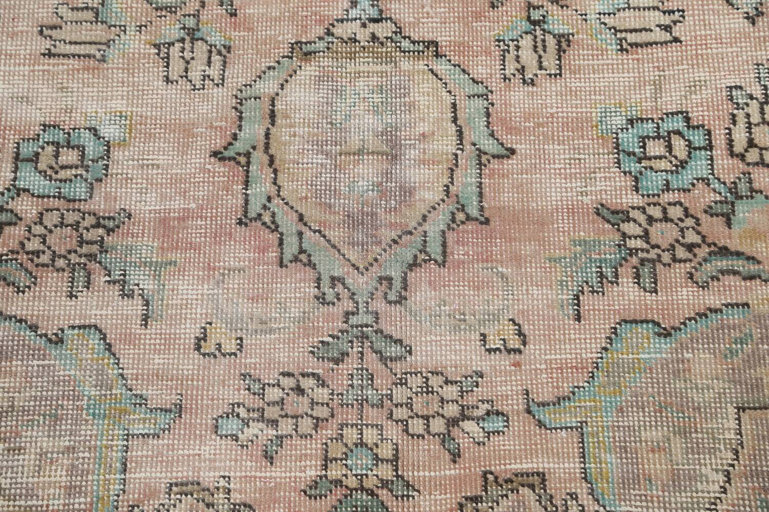 Muted Distressed Tabriz Persian Area Rug 7x9 image 10
