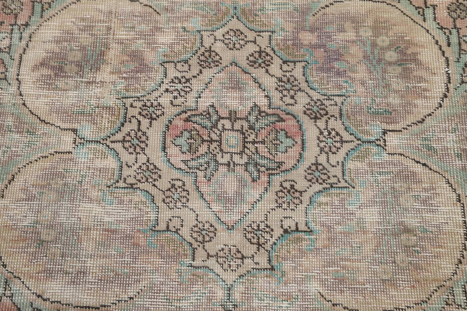 Muted Distressed Tabriz Persian Area Rug 7x9 image 11