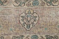 Muted Distressed Tabriz Persian Area Rug 7x9 image 9