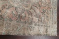 Muted Distressed Tabriz Persian Area Rug 7x9 image 13