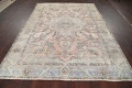 Muted Distressed Tabriz Persian Area Rug 7x9 image 15