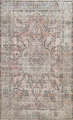 Muted Distressed Tabriz Persian Area Rug 7x9 image 1