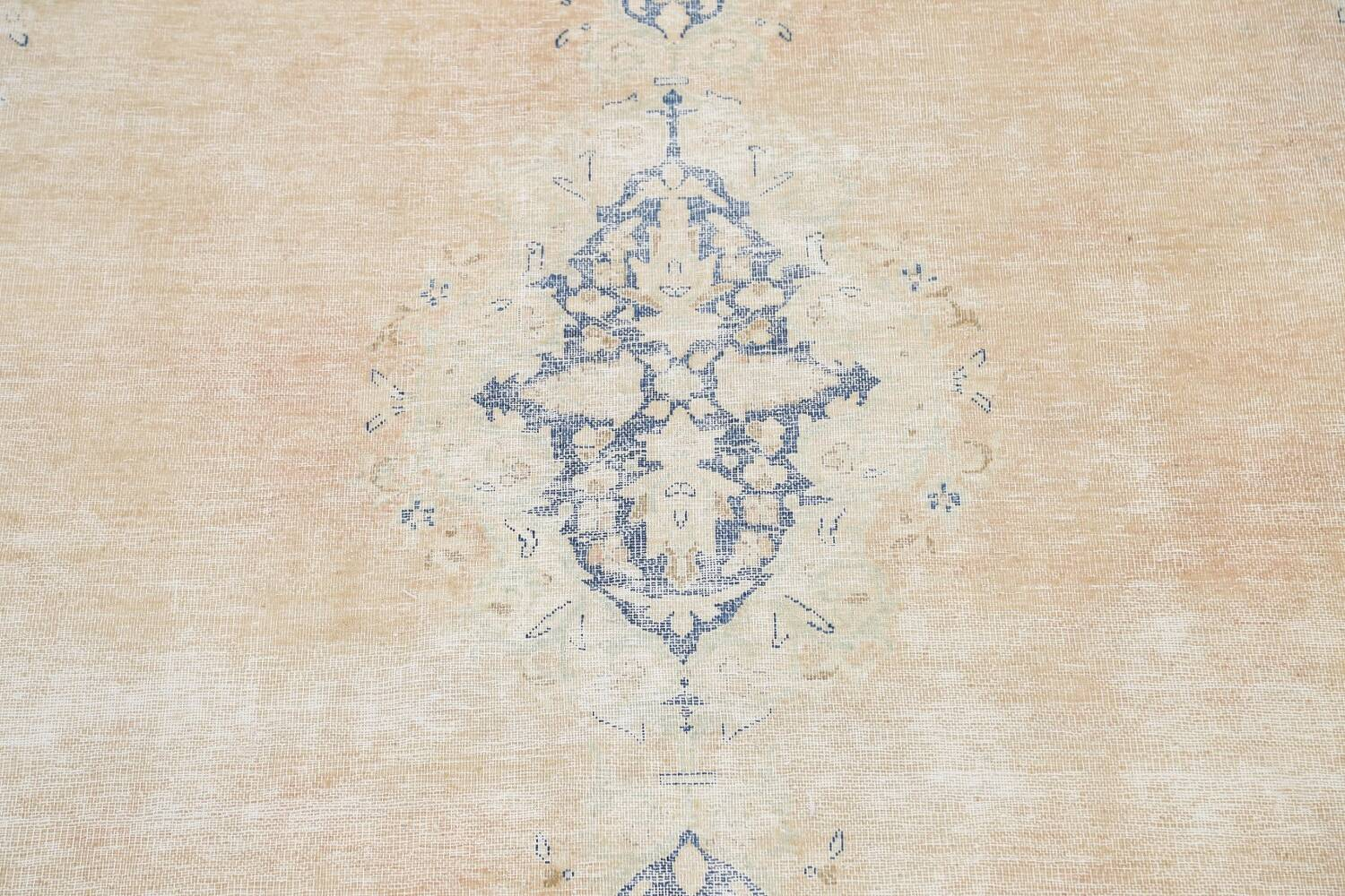 Muted Distressed Kerman Persian Area Rug 8x12 image 4