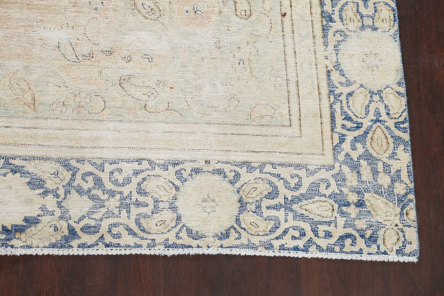 Muted Distressed Kerman Persian Area Rug 8x12 image 5