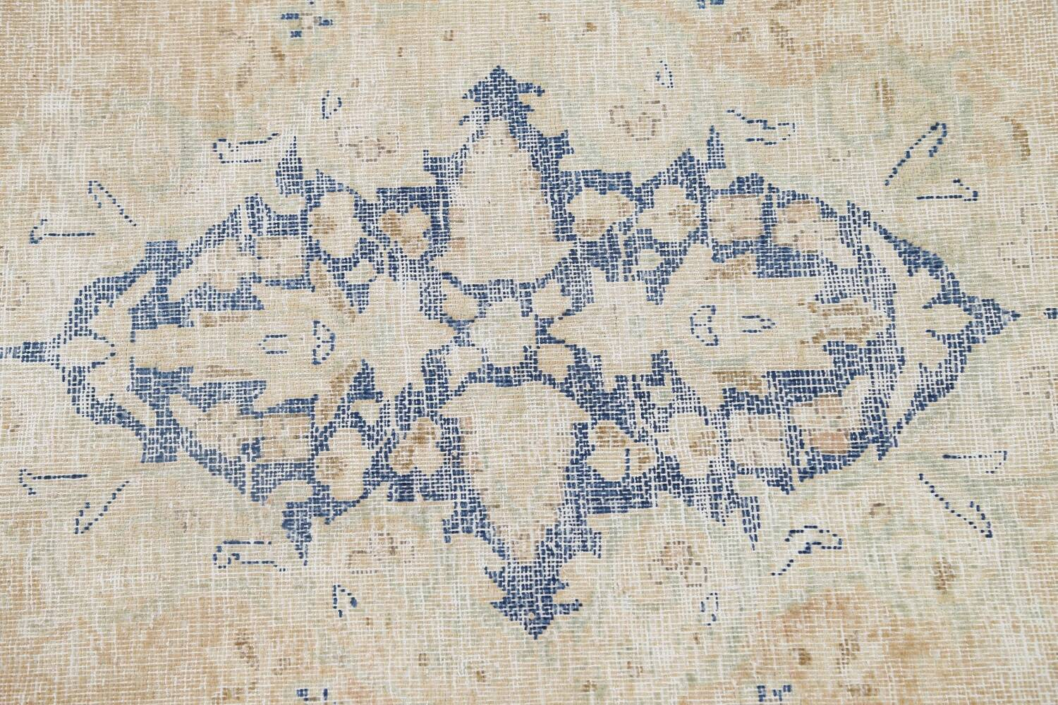 Muted Distressed Kerman Persian Area Rug 8x12 image 11