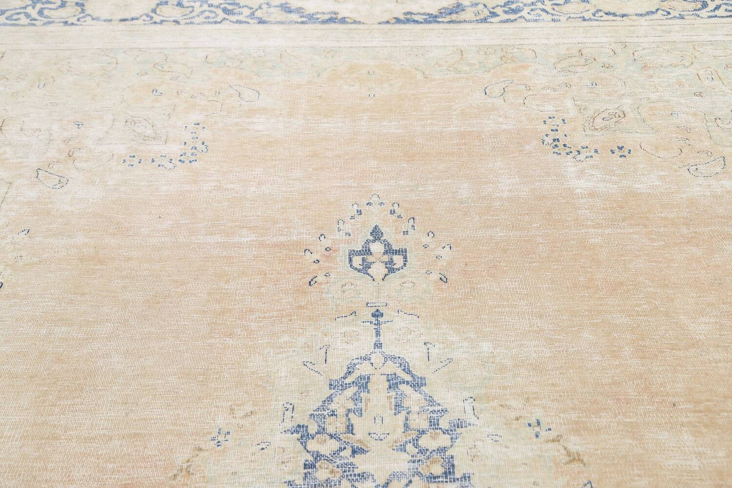 Muted Distressed Kerman Persian Area Rug 8x12 image 12