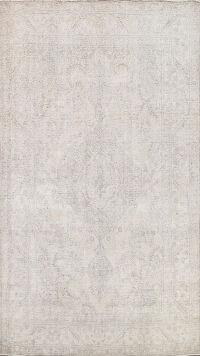 Muted Distressed Tabriz Persian Area Rug 6x9