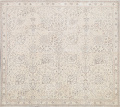 Floral Muted Tabriz Persian Area Rug 7x7 Square image 1