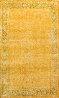 Over-dyed Floral Kerman Persian Area Rug 8x11