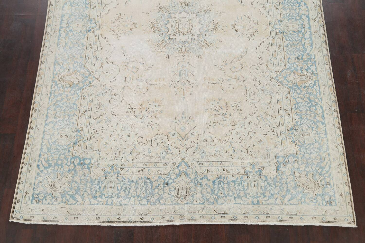 Muted Floral Kerman Persian Area Rug 7x10 image 8