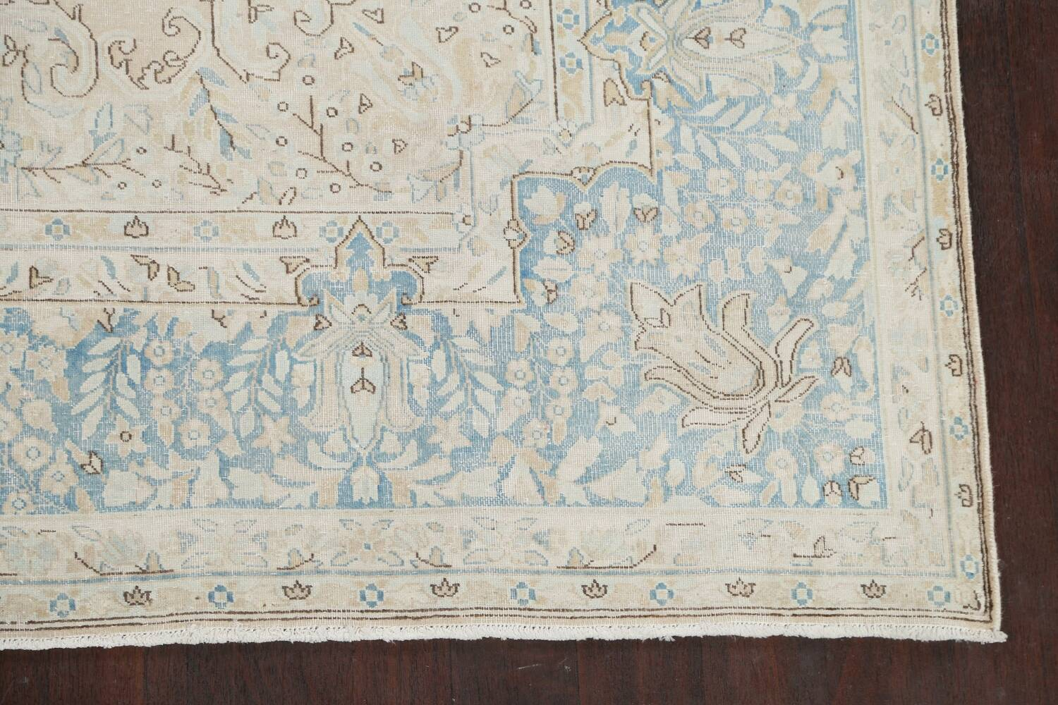 Muted Floral Kerman Persian Area Rug 7x10 image 5