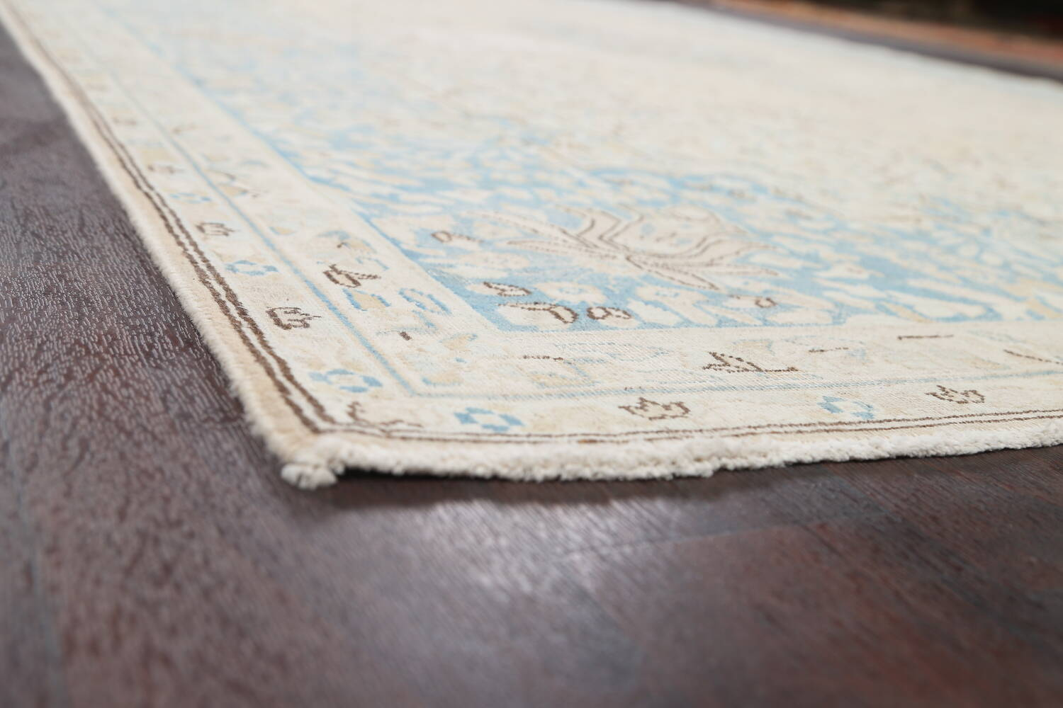 Muted Floral Kerman Persian Area Rug 7x10 image 6