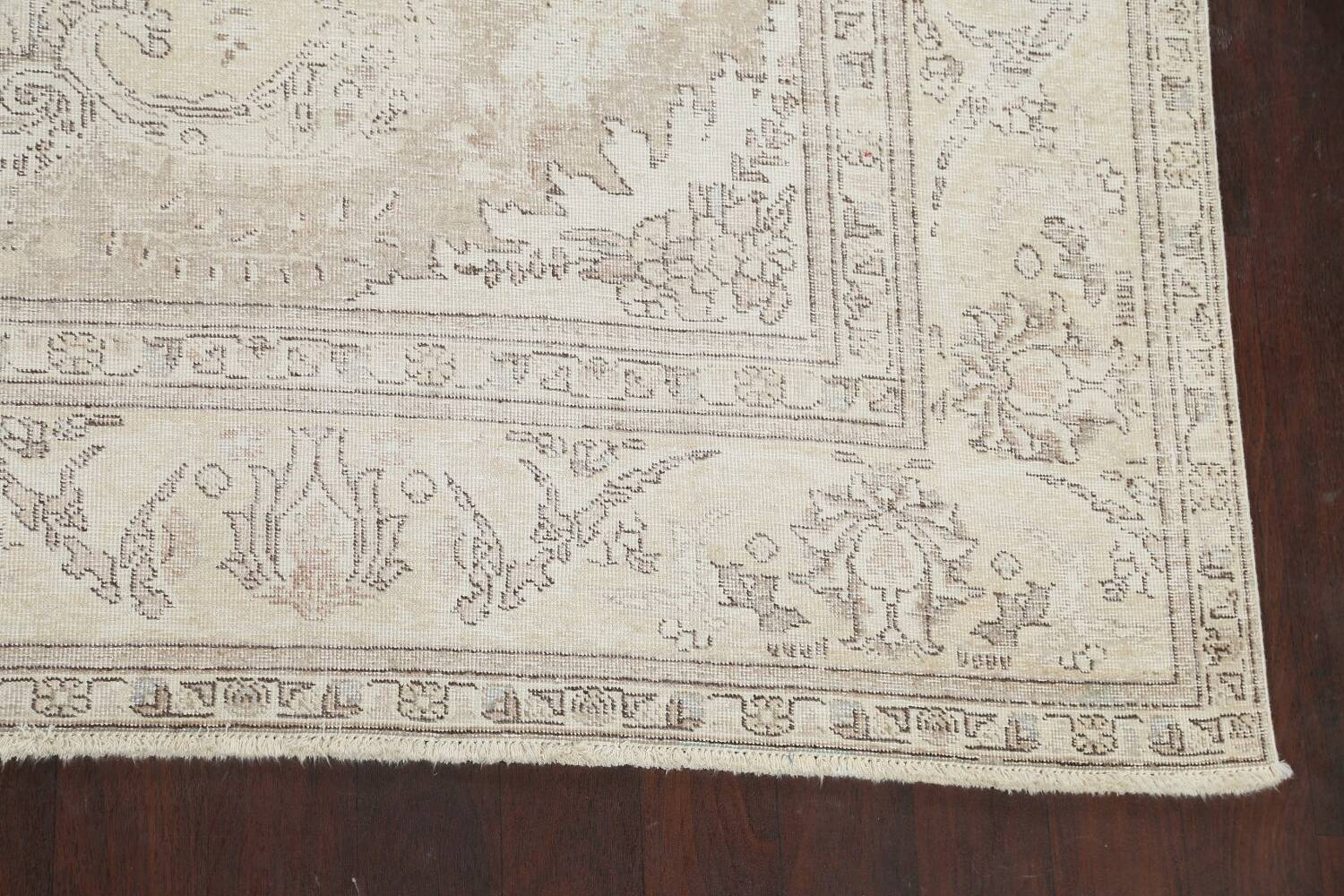 Muted Distressed Tabriz Persian Area Rug 9x12 image 5