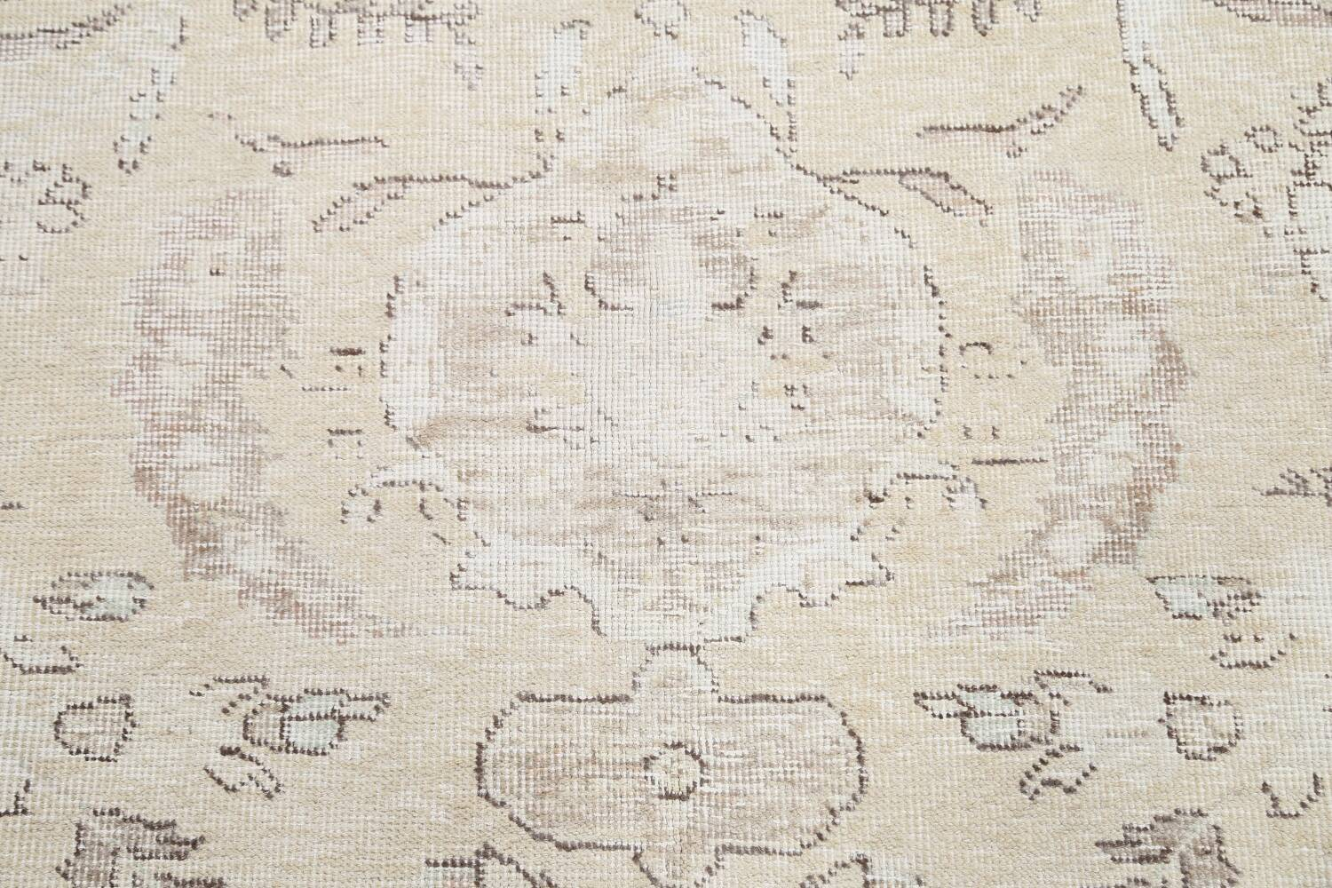 Muted Distressed Tabriz Persian Area Rug 9x12 image 12