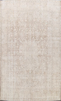 Muted Floral Kashan Persian Area Rug 10x13