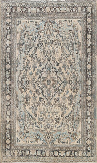 Muted Geometric Hamedan Persian Area Rug 7x10