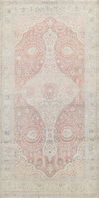 Muted Tabriz Persian Area Rug 6x10