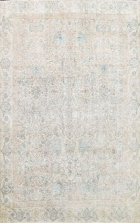Muted Floral Tabriz Persian Area Rug 7x10