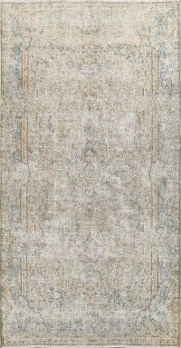 Antique Muted Mashad Persian Area Rug 5x8