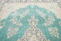 Muted Distressed Floral Kerman Persian Area Rug 8x11 image 11